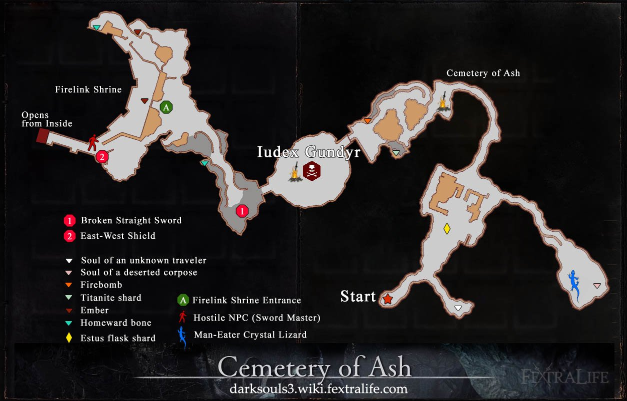 Cemetery of Ash Map