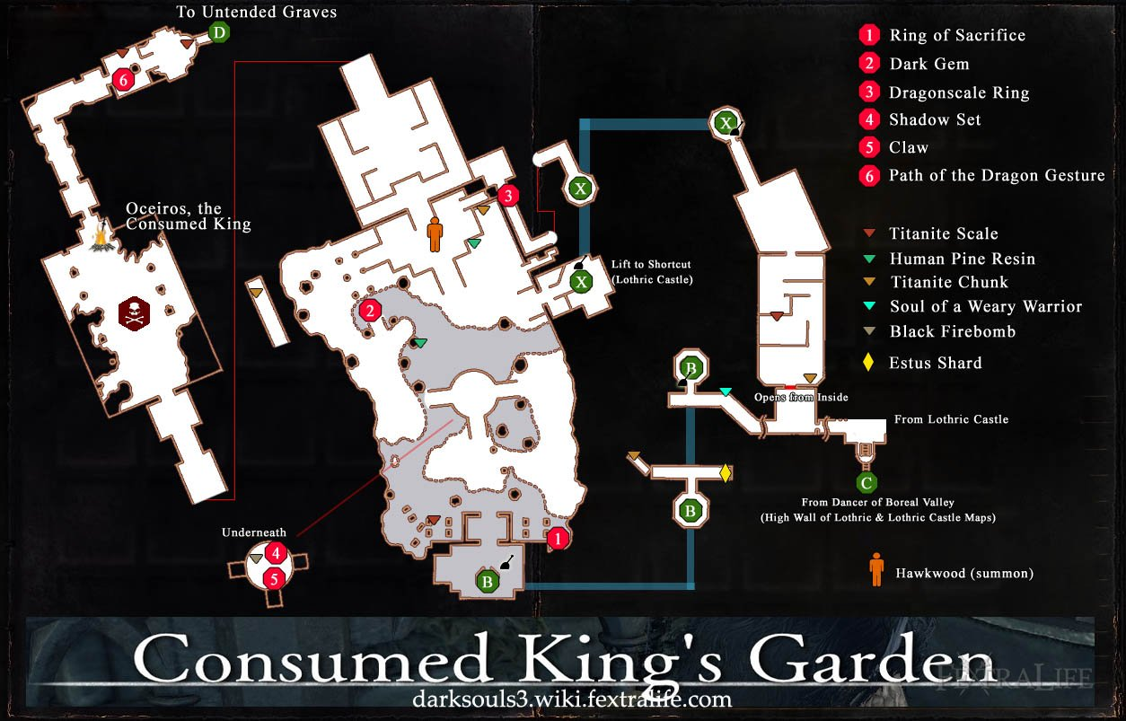 Consumed King's Garden Map