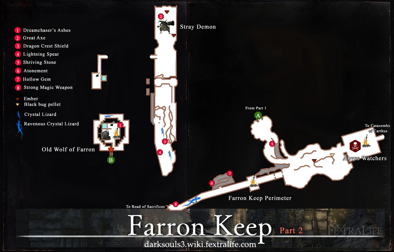 Farron Keep Map dks3