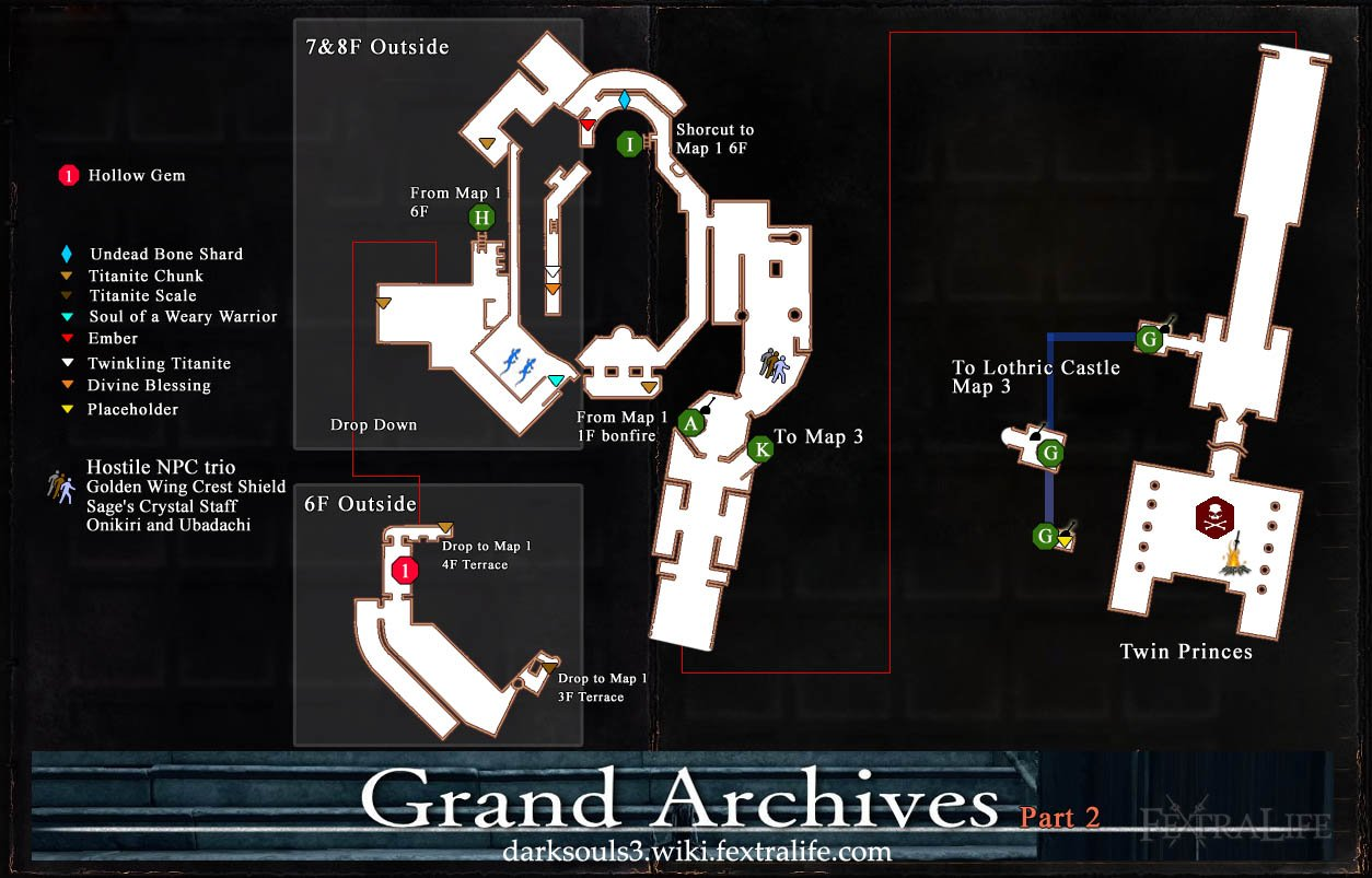 Grand Archives Map