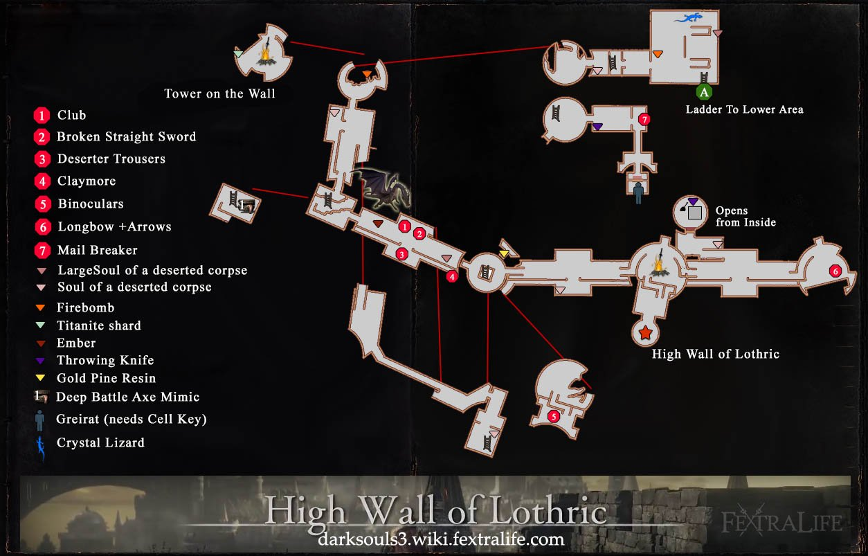High Wall of Lothric Map