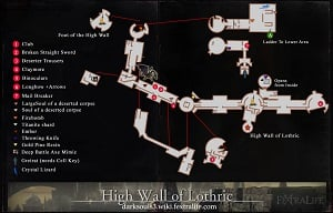 High Wall of Lothric Map 1