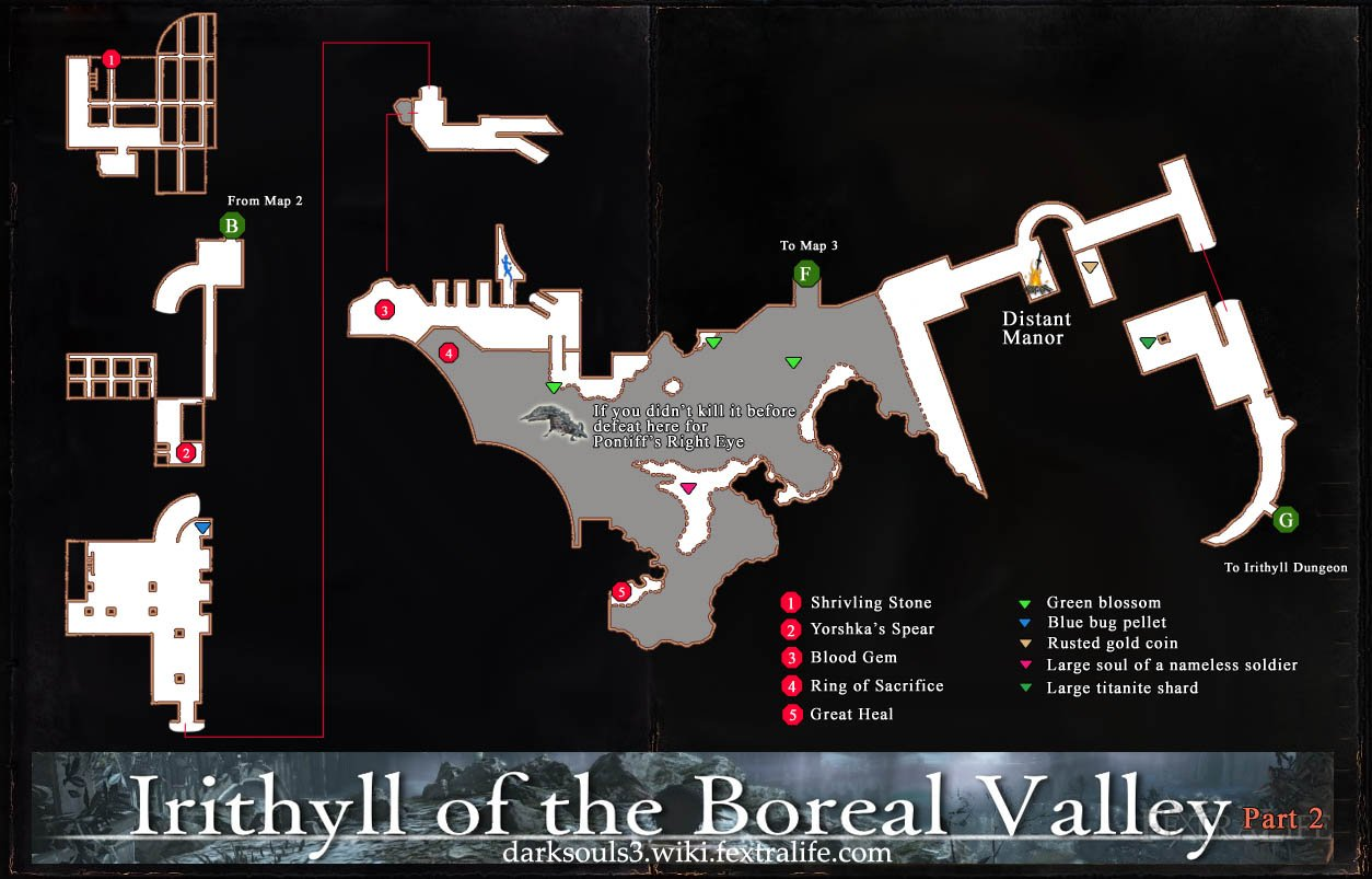 Irithyll of the Boreal Valley Map 2 DKS3