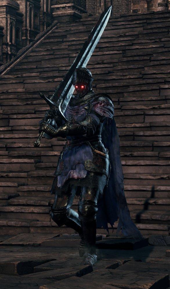 Greatsword (Blue Cloak) - Lothric Knight DKS3