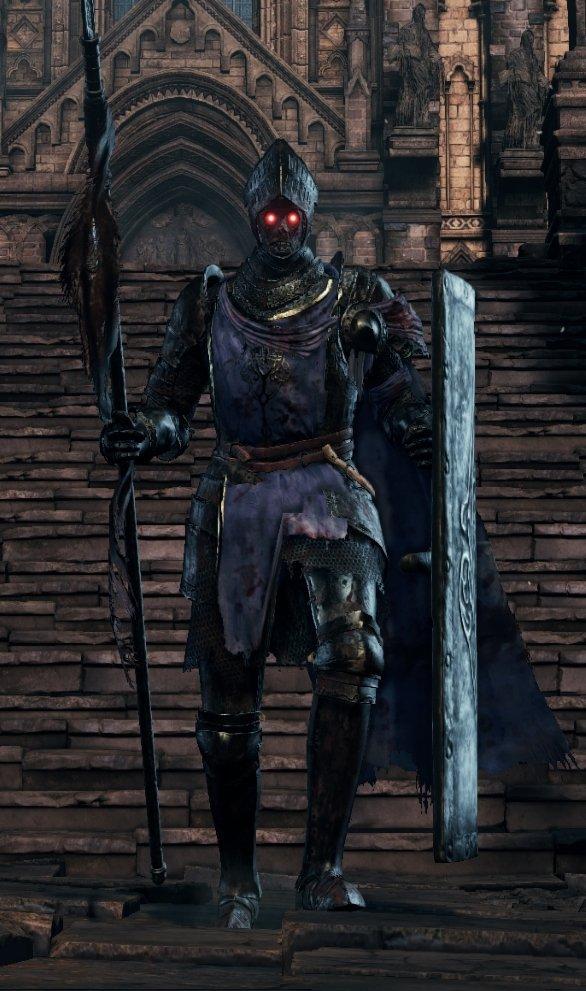 Spear and Shield (Blue Cloak) - Lothric Knight dks3