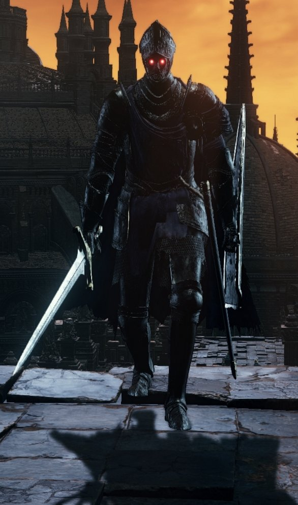 Sword and Shield (Blue Cloak) - Lothric Knight DKS3