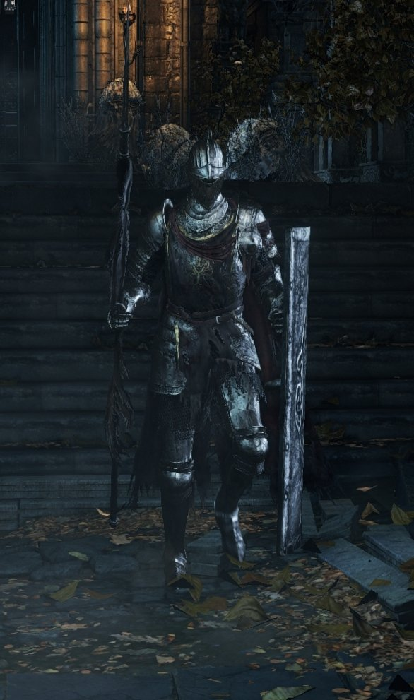 Spear and Shield (Red Cloak) - Lothric Knight DKS3