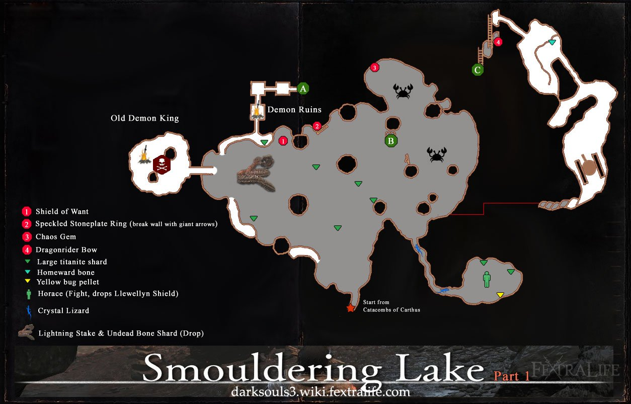 Smouldering lake dark souls 3 wiki smouldering lake map 1 dks3 gumiabroncs Gallery